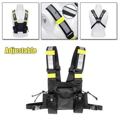 Chest Rig Bag Radio Harness Front Pack Caller Walkie Talkie Holster Men Women