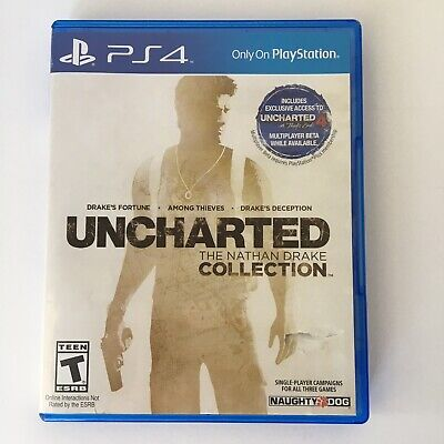 Uncharted The Nathan Drake Collection Sony Playstation 4 PS4 Game