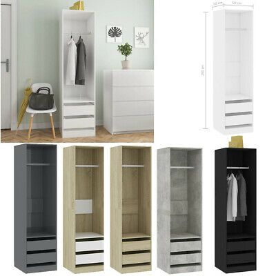 Wardrobe Chipboard Storage Cabinet with 2 Drawers Comb Furniture Unit Bedroom