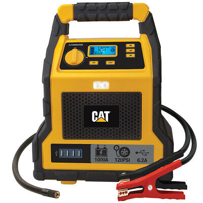 1000 Peak Amp Portable Car Jumpstarter CAT Professional Jump Starter &Compressor