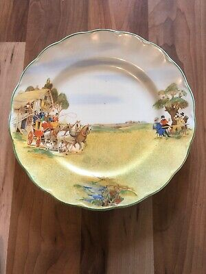 "10"" Frank Buckley Production Art Deco Old English Coaching Days Plate"