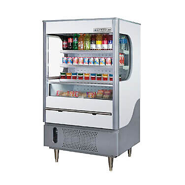 Beverage Air VM12-1-G-LED Open Refrigerated Display Merchandiser