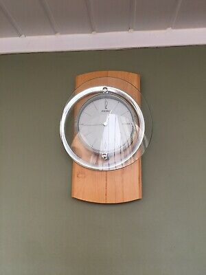SEIKO Motion Wall Clock With Wooden Back And Pendulum Motion