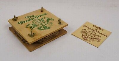 "Vintage 1970s Alfred Knobler & Co. The Flower Press New Old Stock 5"" x 5"""