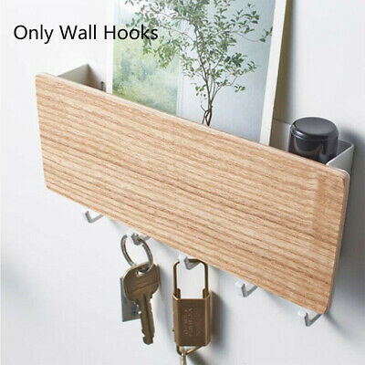 Wooden Wall Mounted Hanging Hanger Hooks Key Holder Storage Rack Organizer BE6
