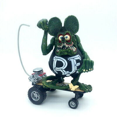 "Green Black RAT FINK Sidewalk Surfer Big ""Daddy"" Ed Roth Action Figure"