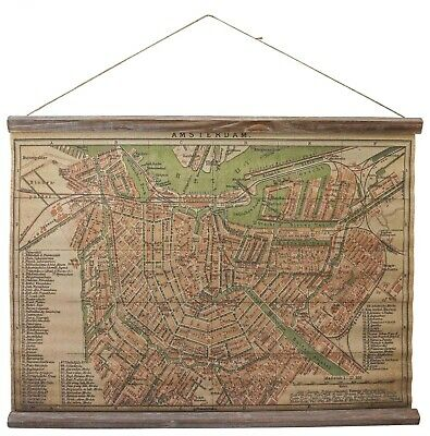 Map historic roll map antique style wall map Netherlands Amsterdam Dutch