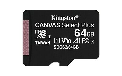 Kingston Class 10 64GB MicroSD Card with SD Adapter TF Samsung Android Nintendo
