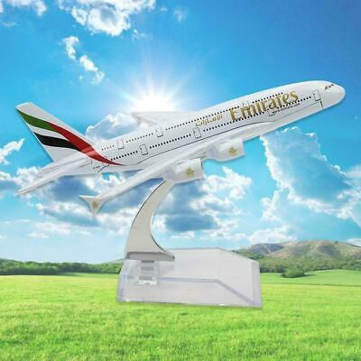 16cm Diecast Model Airbus380 Emirates Airlines A380 Aeroplane New Aircraft K2O9