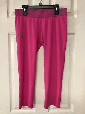 Under Armour Youth Girls XL Fitted Pink Capri Leggings