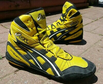 RARE COLORWAY ASICS Intensity Yellow Wrestling Shoes Size 12