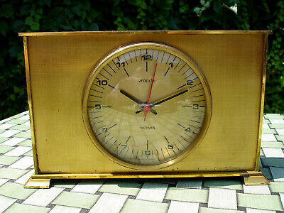 Vintage Brass French table clock VEDETTE Mantel antique