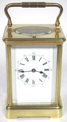 Antique French 8 Day Carriage Clock Large Repeat Striking French Mantel Clock