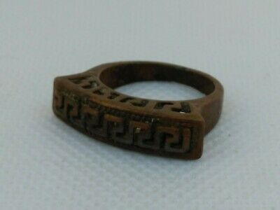 Extremely Rare Ancient Roman Old Ring Bronze Artifact Museum Quality
