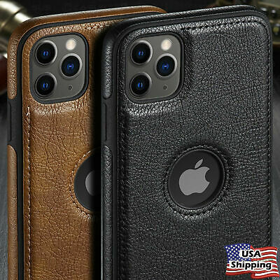 For iPhone 11 Pro Max SLIM Luxury Leather Back Ultra Thin Soft  Case Cover