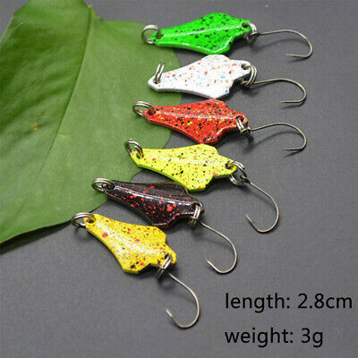mini trout Feather Treble Hook Crank Bait Spoon Spinner Fishing Metal Lures