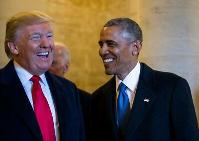 8X10 PHOTO ZY-816 BARACK OBAMA MEETS WITH DONALD TRUMP AFTER ELECTION WIN