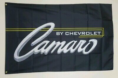 Chevrolet Chevy Camaro Banner 3x5 Ft Flag Garage Wall Decor Classic Vintage SS
