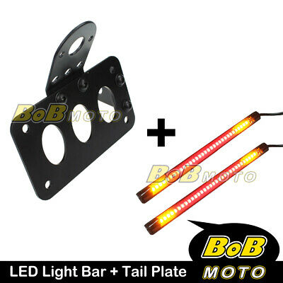Tail Plate Integrated Indicator Brake Light Bar x2 For Harley Electra Glide