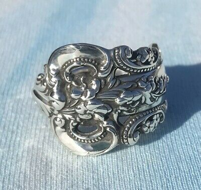 Wallace Grande Baroque Sterling Spoon Ring Handcrafted Artisan