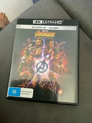 Avengers - Infinity War 4K Ultra HD DVD - DVD Perfect Condition /box Has Punctur