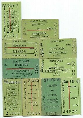 10 Different HORNSBY Single Tickets