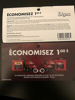 5 X 1$ Off Folgers Coffee Coupons