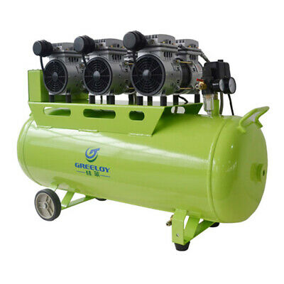 Greeloy 90L Noiseless Silent Oil Free Air Compressor GA-63 For 5Pcs Dental Chair