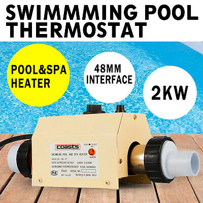 2KW 220V Swimming Pool&SPA Bath Hot Tub Electric Water Heater Heating Thermostat