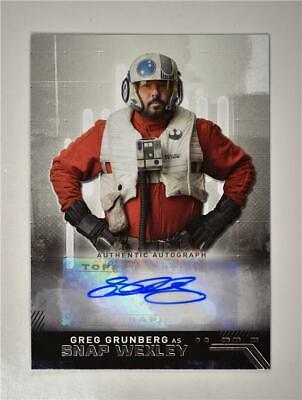 2019 Star Wars The Rise of Skywalker Auto Greg Grunberg as Snap Wexley