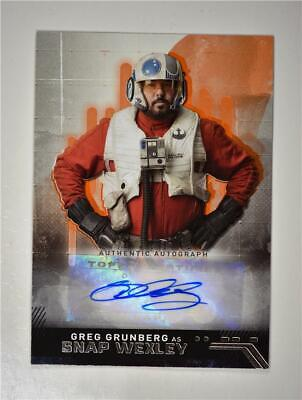 2019 Star Wars The Rise of Skywalker Auto Greg Grunberg as Snap Wexley /10