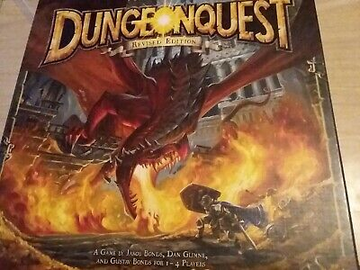 Rare HTF Dungeonquest Dungeon Quest Board Game Revised Barely Played