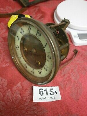 Clock MOVEMENT FRENCH, Hands, Dial & Bezel inc bevelled glass parts mantle
