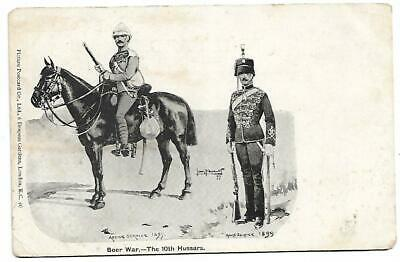 Boer War - The 10th Hussars Unused Sold as Per Scans