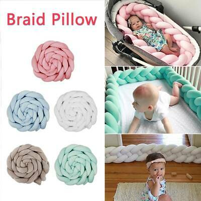 2M Infant Baby Soft Plush Crib Cot Bumper Bed Bedding Pillow Pad Protector AU