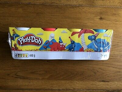 Play-Doh Assortment Colour Classic Tubs - 4-Pack, Excellent Condition
