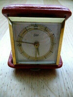 Vintage Emes Wind Up Folding Travel Alarm Clock For Spares/Repairs