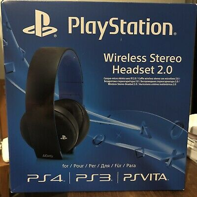 NEW Sony Wireless Stereo Gaming Headset 2.0 PlayStation for Ps4 Ps3 PS Vita