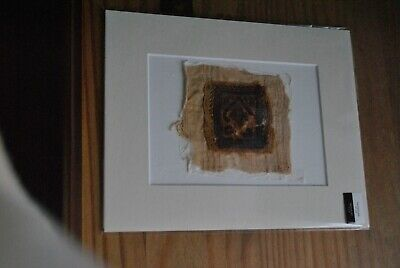 Authentic Ancient Romano-Egyptian Coptic Textile Fragment Mounted  for Framing