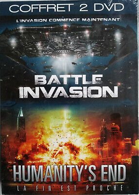 COFFRET 2 DVD BATTLE INVASION / HUMANITY'S END neuf sous blister