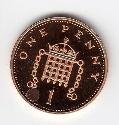 1990 ONE PENNY 1p In Extremely Nice PROOF Condition Collectable Grade   (2585)