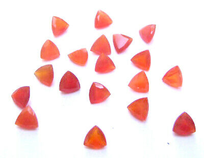 Superb Lot Natural Carnelian 6X6 mm Trillion Faceted Cut Loose Gemstone AB01