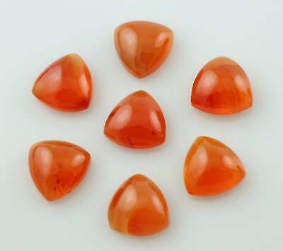 Superb Lot Natural Carnelian 6X6 mm Trillion Cabochon Loose Gemstone AB01
