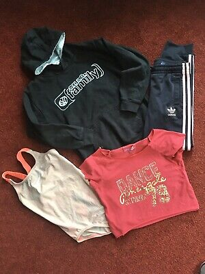 Girls Sports Navy Adidas Bottoms Nike Swimsuit Pineapple Top Hoodie Age 9-10