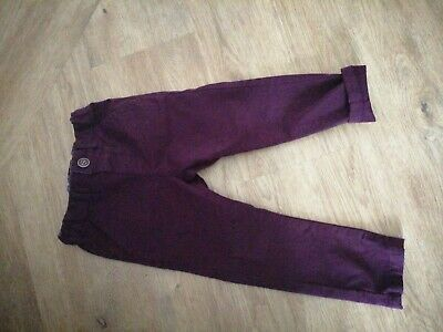Gorgeous NEXT 2019 boys Plum Purple Coloured Chino Trousers Jeans suit age 3