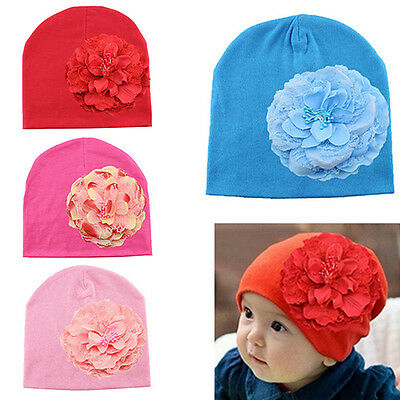 Sn_ Eg_ Newborn Baby Girl Groovy Flower Weave Hat Infant Cotton Spring Beanie
