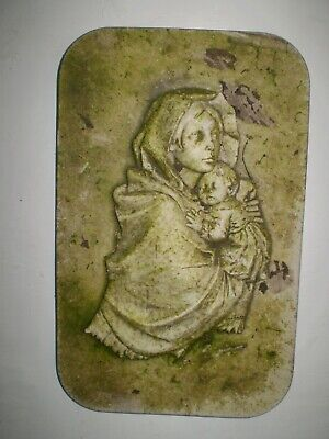 Architectural Salvage,Vintage 1930s French Madonna & Child Statue wall plaque