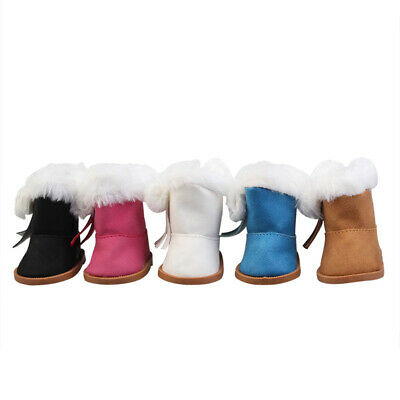 Winter Glitter Warm Shoes For 18 Inch American Girl Doll Accessory Girl's gifts