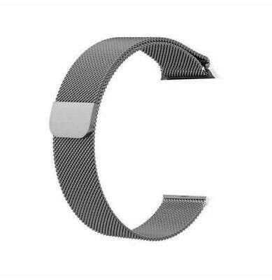Correa Apple Watch 42mm 44mm Gris Pulsera de reloj de acero inoxidable milanesa