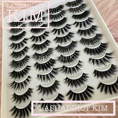 20 PAIRS Mink Lashes Eyelashes 3D WISPY Eyelash Makeup Book New Fur | US SELLER
